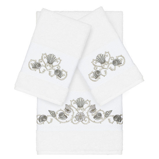 Linum Home Textiles 100 Turkish Cotton Bella 3pc Embellished Towel Set