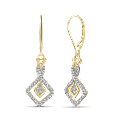 Diamond Accent White Diamond Round Drop Earrings