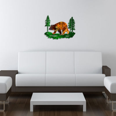 Metal Bear Wall Art Amberesque Medium Bear