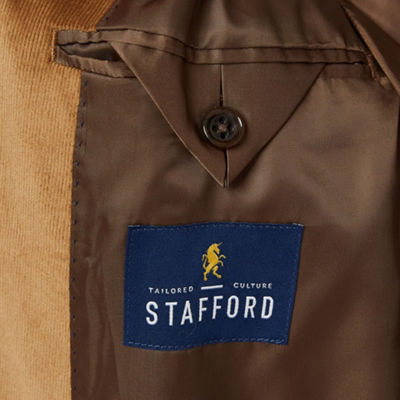 Stafford Corduroy Stretch Slim Fit Full Lined Sport Coat