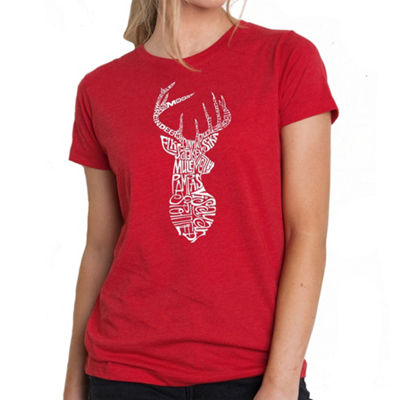 Los Angeles Pop Art Women's Premium Blend Word ArtT-shirt - Types of Deer