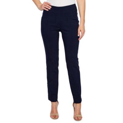 Lark Lane Lark Essentials Mid Rise Straight Pull-On Pants