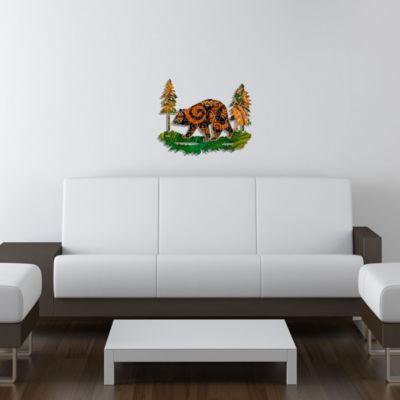 Metal Bear Wall Art Cinnamon Medium Bear
