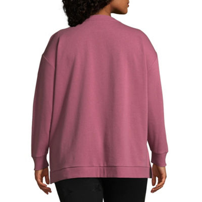 Xersion Long Sleeve Foil Detail Pullover - Plus