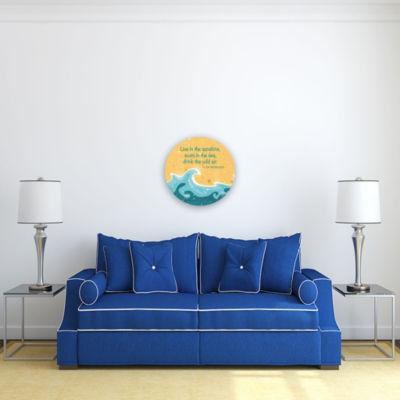 Motivational Wall Art Live Swim Drink 16-inch Round