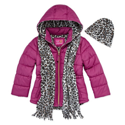 Pink Platinum Heavyweight Puffer Jacket - Girls 4-16