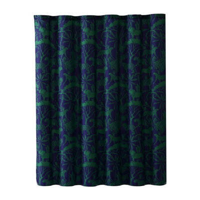 VCNY Zane Cotton Shower Curtain Set