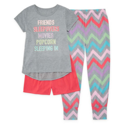 Arizona 3pc Sleepover Pajama Set  - Girls 4-16