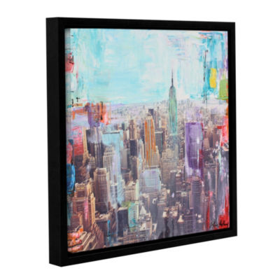Vibrant Skyline Floater-Framed Gallery Wrapped Canvas