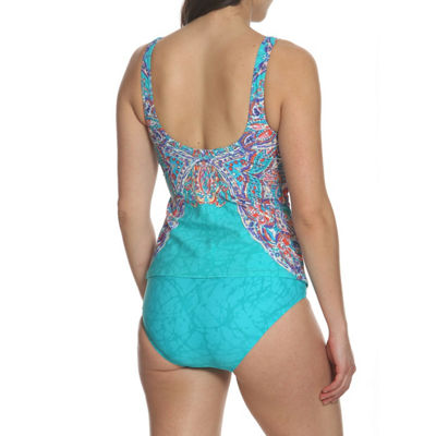 Sun and Sea Tapestry Dream Classic Tankini Top - Plus