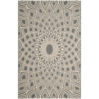 Safavieh Courtyard Collection Jacinth Geometric Indoor/Outdoor Area Rug