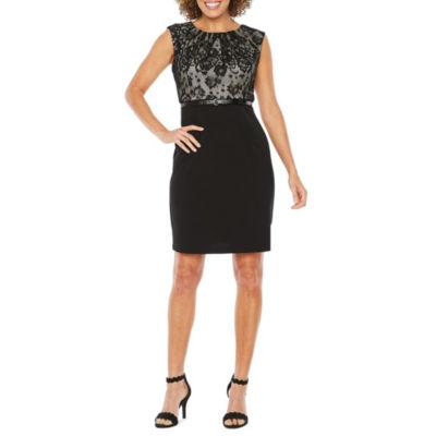 Alyx Cap Sleeve Lace Top Sheath Dress