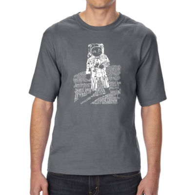 Los Angeles Pop Art Boy's Raglan Baseball Word Art T-shirt - Big Cats
