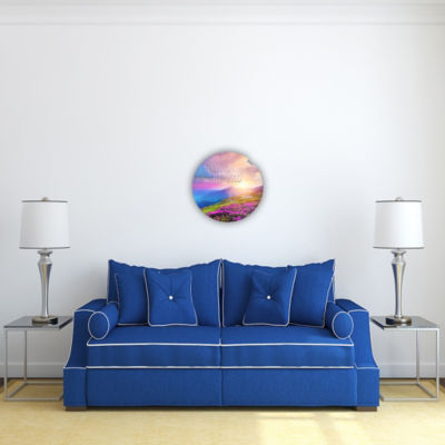 Motivational Wall Art Focus On the Good 16-inch Round