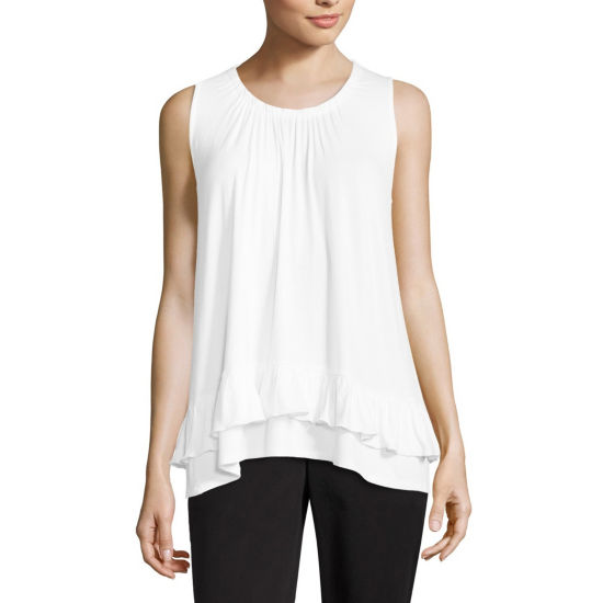 89th & Madison Sleeveless Peasant Top