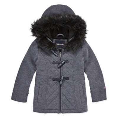 Limited Too Fleece Hooded Midweight Jacket-Big Kid Girls