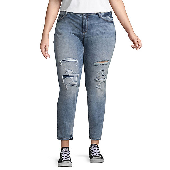 089f988e3d3 Arizona Womens Mid Rise Jeggings - Juniors Plus - JCPenney
