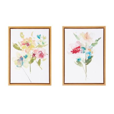 Madison Park Bloom Bouquet Gel Coat 2-pc. Framed Canvas Art
