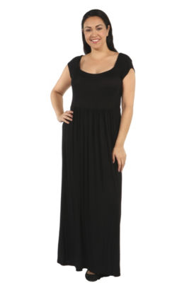 24/7 Comfort Apparel Drink Of Water Maxi Dress-Plus