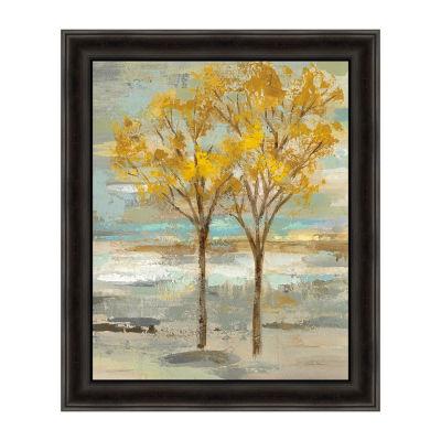 Golden Tree and Fog II Framed Print