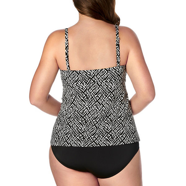 St. John's Bay Tankini Swimsuit Top-Plus