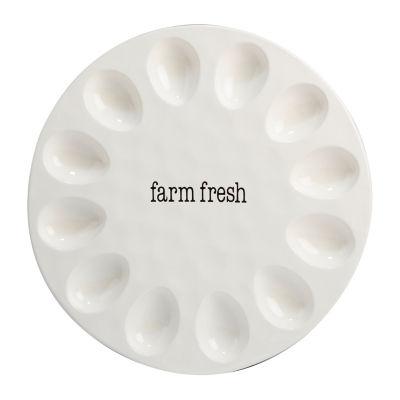 Certified International Just Words Egg Plate