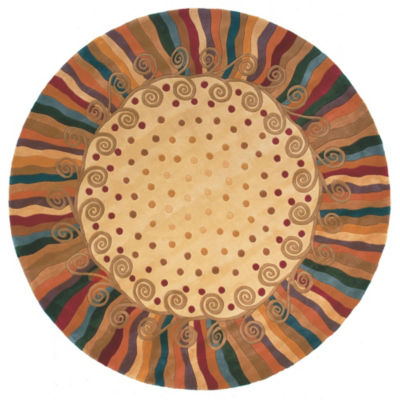 Momeni New Wave 12 Hand Tufted Round Rugs