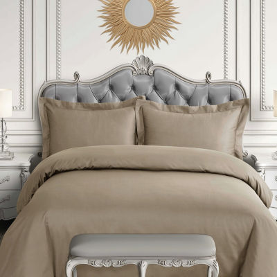 Tibeca Living Egyptian Cotton 600 Thread Count Oversized Duvet Cover Set