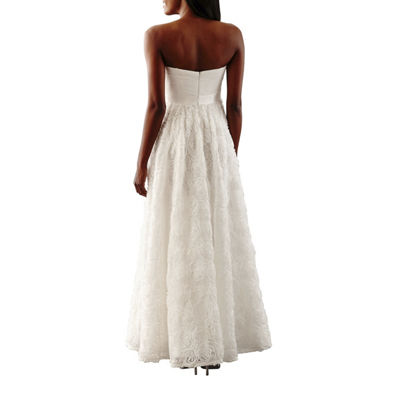 One By Eight Strapless Beaded Wedding Gown