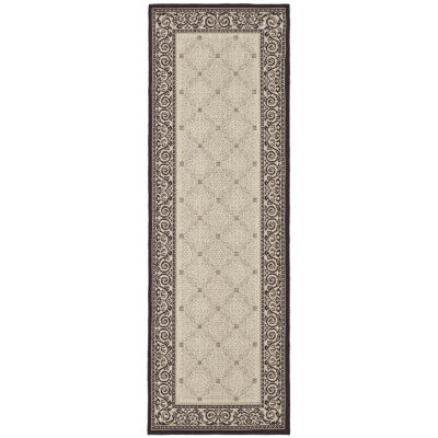 Safavieh Courtyard Collection Frona Oriental Indoor/Outdoor Runner Rug