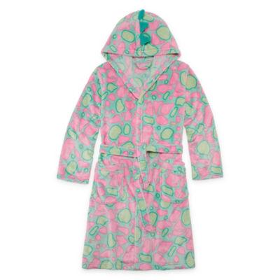 Arizona Long Sleeve Dino Robe Girls 4-16 and Plus