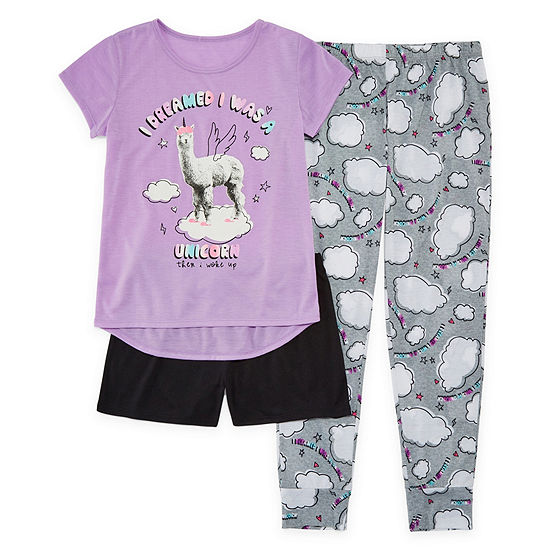 ce6fc2feeed0 Arizona 3pc Llama Pajama Set - Girls 4-16   Plus - JCPenney