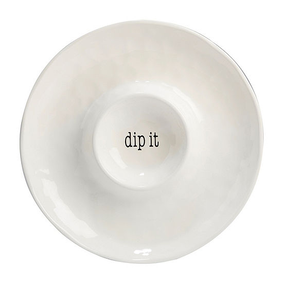 Certified International Just Words Chip + Dip Set