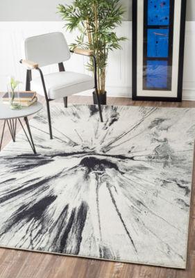 nuLoom Paint Splatter Abstract Area Rug