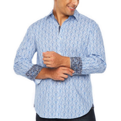 Society Of Threads Long Sleeve Pattern Button-Front Shirt