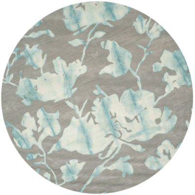 Safavieh Dip Dye Collection Jessie Floral Round Area Rug