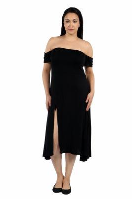 24/7 Comfort Apparel Star Sweep Maxi Dress-Plus