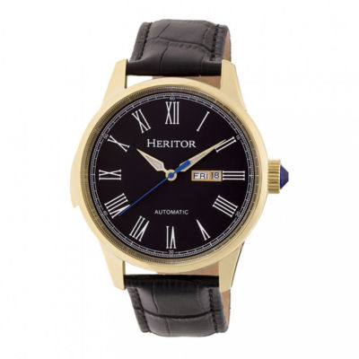 Heritor Unisex Black Strap Watch-Herhr6703