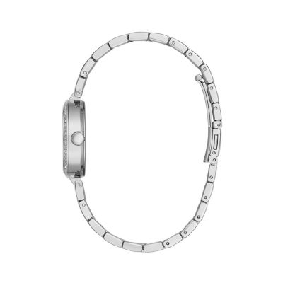 Caravelle Womens Silver Tone Bracelet Watch-43l210