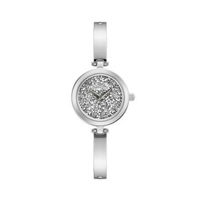 Caravelle Womens Silver Tone Bracelet Watch-43l211