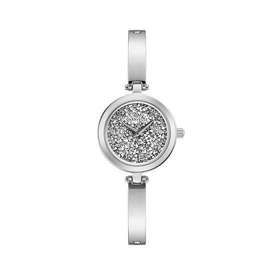 Caravelle Womens Silver Tone Stainless Steel Bracelet Watch-43l211