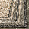 Safavieh Courtyard Collection Wanda Stripe Indoor/Outdoor Square Area Rug