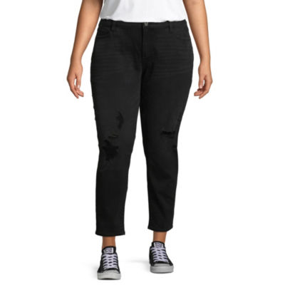 Arizona Slim Fit Ankle Jeans-Juniors Plus