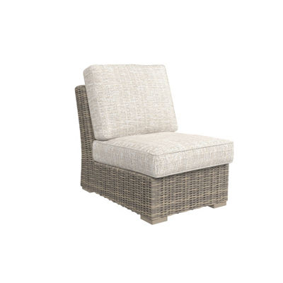 Outdoor by Ashley® Beachcroft Armless Patio Chair with Cushion
