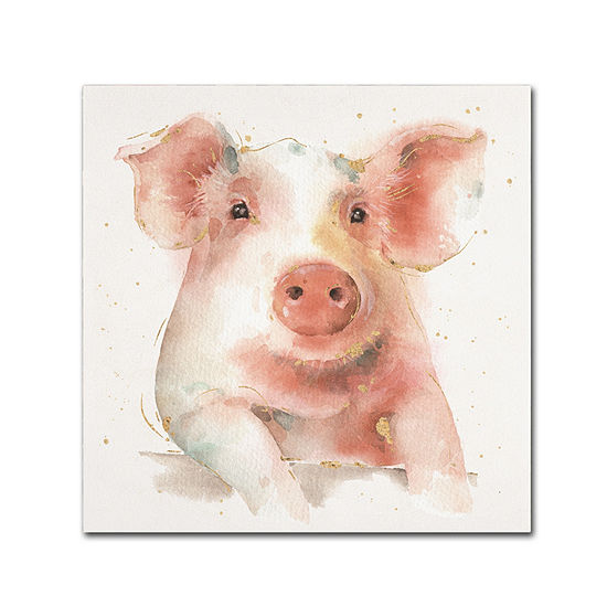 Trademark Fine Art Lisa Audit Farm Friends III Giclee Canvas Art