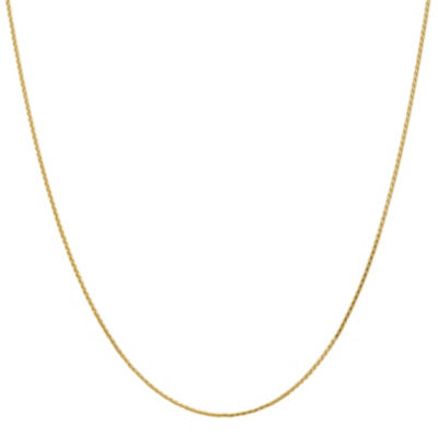 14K Gold Solid Wheat 14 Inch Chain Necklace