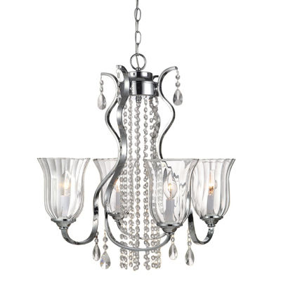 Decor Therapy Four Light Crystal Chandelier