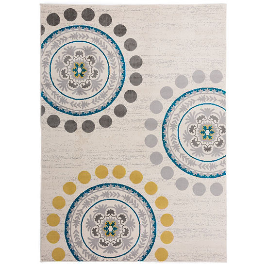 World Rug Gallery Contemporary Circles and Dots Rug Collection