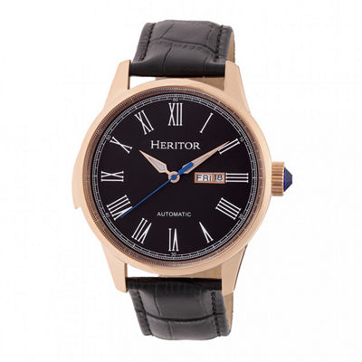 Heritor Unisex Black Strap Watch-Herhr6705