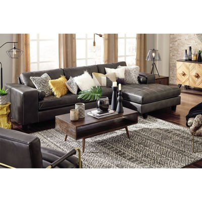 Signature Design by Ashley® Decker 2-Pc Sectional with Right Arm Facing Sofa